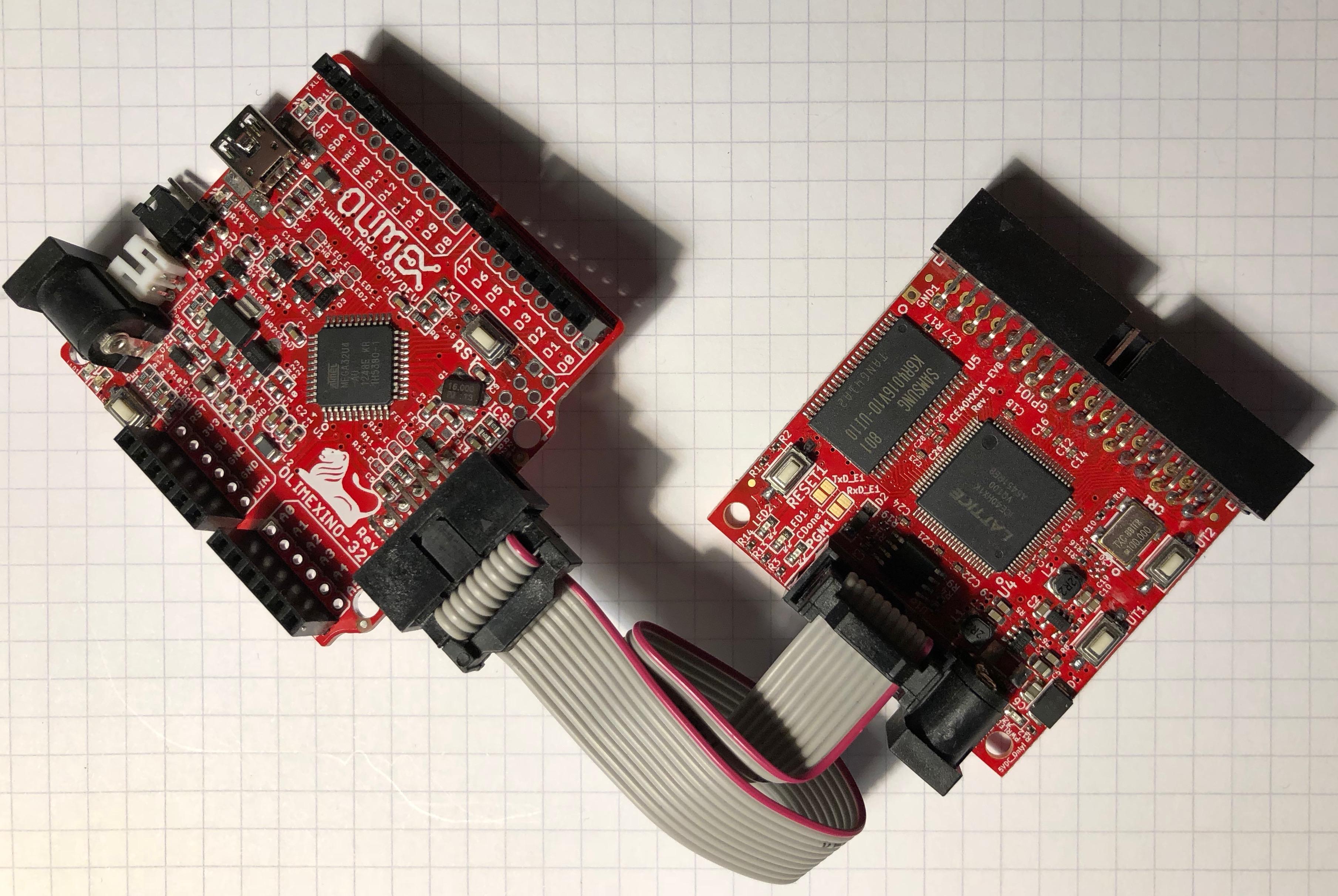Martin's Atelier: iCE40 Blinky on the Olimex HX1K